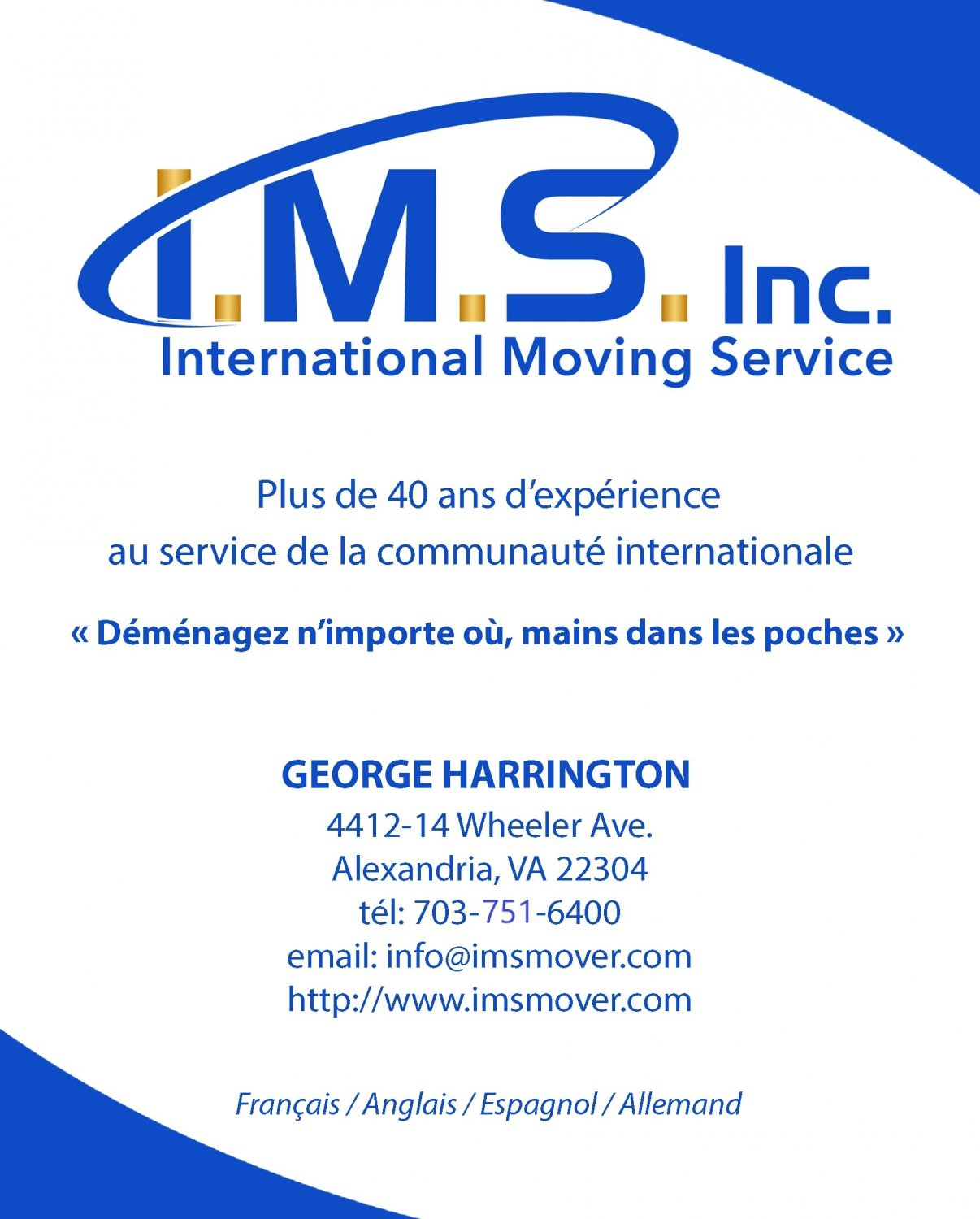 I.M.S. Inc - International Moving Service